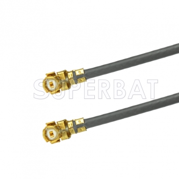 U.FL Right Angle Jack to U.FL Right Angle Jack Cable Using 1.37mm Coax, RoHS
