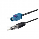 RF Pigtail Fakra Plug with Male Center Pin in to AM/FM Plug with Male Center Pin in Cable Using RG-174 Coax
