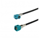 HSD Cable Assembly Z Code Right Angle Jack to Z Code Straight Pulg 120cm