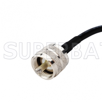 RF coaxial UHF Male PL259 to UHF Male PL-259 Coax Double Male Connector Pigtail Jumper RG58 Extension Cable -Ham Radio Antenna Adapter Wire Assembly