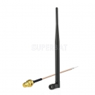 868 mhz Antenna Tilt & Swivel NFC RFID Antenna RP-SMA Plug + RP-SMA Plug Pigtail Cable RG178 15cm 6inch for GSM Wireless Wifi Homematic CCU2 CC1101 Ha