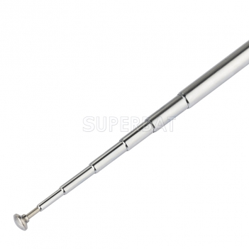 BNC Male 7 Section Telescopic Scanner Antenna for TV FM Radio Scanners Remote Receivers and Other Electronics Products