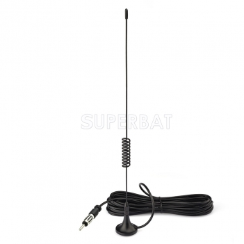 Superbat Magnetic Base Car Stereo Antenna Car FM AM Radio Antenna for Vehicle Truck SUV Truck RV Car Stereo Audio Radio Head Unit CD Media Receiver